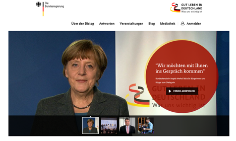 Bundesregierung startet neues Format des B�rger-Dialogs Bild