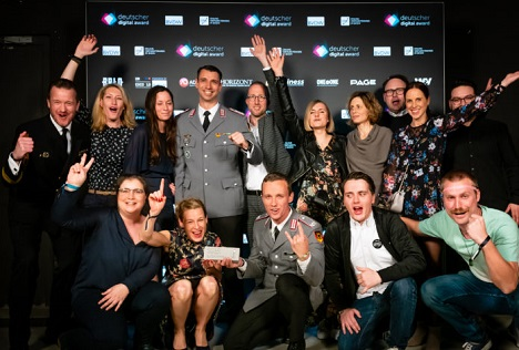 """Beim diesjährigen Digital Award gewannen Castenow und die Bundeswehr einmal Silber und einmal Gold für die Multichannel-Serie """"KSK"""". Die erfolgreiche ZUsammenarbeit geht nun in die nächste Runde; Foto: Castenow"""
