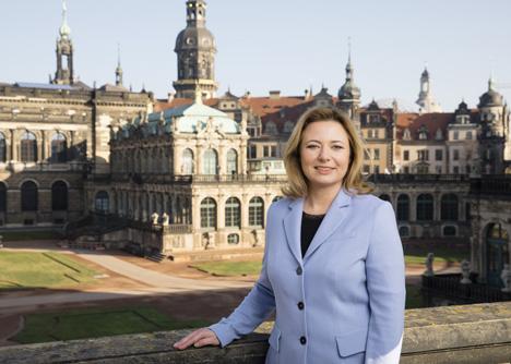 Die neue Chefin von Dresden Marketing Corinne Miseer gilt als eine erfahrene Marketingexpertin; Foto: Dresden Marketing GmbH / Sven Döring