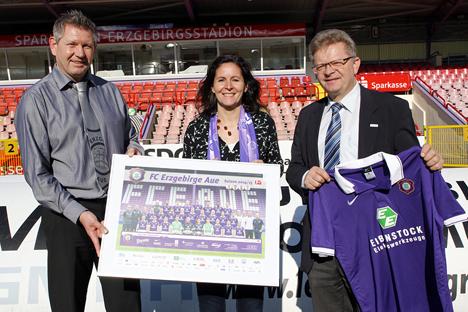 Wirtschaftsf�rderung und Regionalmanagement Erzgebirge kooperieren mit FC Erzgebirge Aue Bild