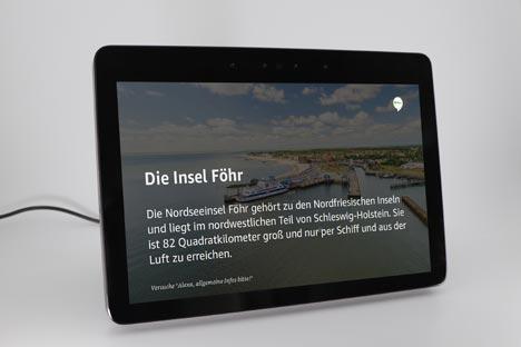 """Der Alexa Skill der Insel Föhr ist einer von rund 10.000 deutschsprachigen Skills im Amazon Skill Store und in der Rubrik """"Reise & Transport""""; Foto: Föhr Tourismus GmbH/Levke Sönksen"""