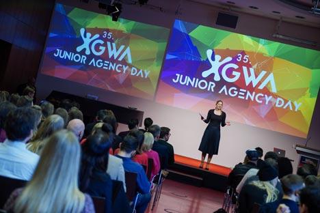 Der  35. GWA Junior Agency Tag fand in diesem jahr an der Leipzig School of Media statt; Foto: GWA