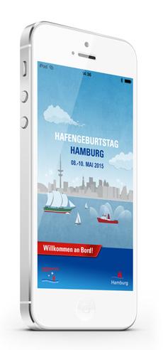 Hamburg pr�sentiert frische Hafengeburtstags-App Bild
