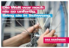 Zentralverband des Deutschen Handwerks wirbt mit Azubis um Nachwuchs Bild