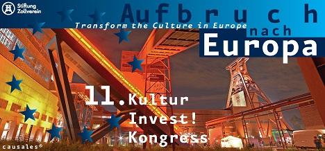 2019 findet der KulturInvest!-Kongress auf dem Unesco-Welterbe Zollverein statt; Foto: Causales