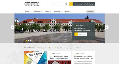 Landtag von Sachsen-Anhalt startet neue Web-Präsenz Bild