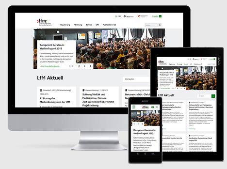 Landesanstalt für Medien Nordrhein-Westfalen präsentiert frische Website Bild
