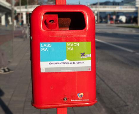 Hamburger Wahlmotivationskampagne geht in die n�chste Runde  Bild