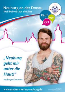 Neuburg startet Imagekampagne mit eigenen B�rgern  Bild