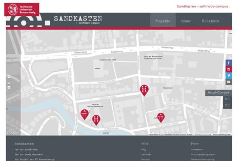 """TU Braunscheig erhält Hochschulperle digital für """"Sandkasten – selfmade campus"""" Bild"""