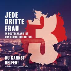 """Key Visual der Initiative """"Stärker als Gewalt""""; Foto: Edelman Deutschland"""