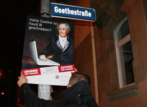Ausgezeichnete Goethe-Guerilla-Kampagne des Technoseums Bild