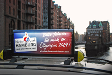 Hamburger Taxi-Unternehmen st�tzen Olympia-Bewerbung der Alster-Metropole Bild