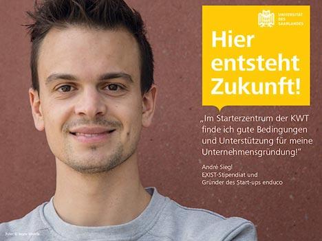 Eines der zahlreichen Motive aus der aktuellen Kampagne der Uni Saarland; Foto: Beate Wehrle/Universität des Saarlandes