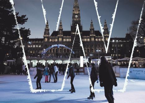 Eislaufen am Rathausplatz in Wien; Foto: stadtwienmarketing / David Bohmann