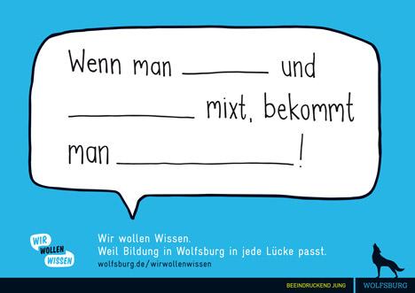 """Wolfsburg startet Bildungskampagne """"Wir wollen Wissen!"""" Bild"""