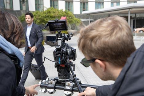 Die Dreharbeiten für die die neuen Imagevideos von Wolfsburg dauerten eine Woche; Foto: WMG