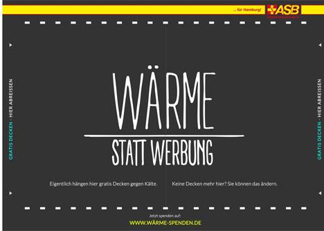 Hamburger ASB entwickelt das erste Plakat, das w�rmt Bild