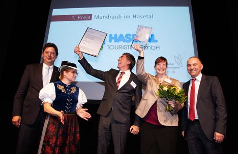 """Deutscher Tourismuspreis 2014 f�r """"Mundraub im Hasetal""""  Bild"""
