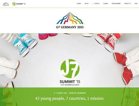 We Do kommuniziert f�r die internationale Jugendkonferenz J7 Summit Bild